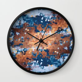 Copper and Denim Abstract Wall Clock