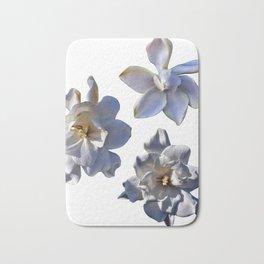 3 White Gardenias [Cecilia Lee] Bath Mat