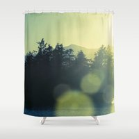 west coast Shower Curtains featuring West Coast Lighthouse by bunderfost