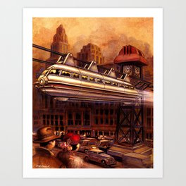 Monorail Art Print