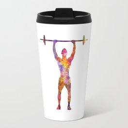 body buiding man isolated Travel Mug