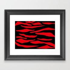 Red Zebra Print Framed Art Print