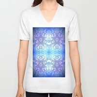 frozen V-neck T-shirts featuring Frozen Stars Periwinkle Lavender Blue by 2sweet4words Designs