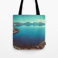 Mountains Forest Lake Water - Crater Lake in Summer Tote Bag
