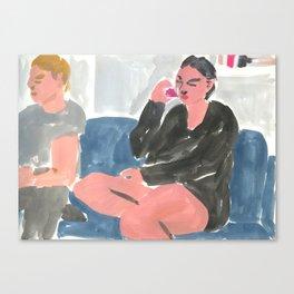 Wine Drinkers Canvas Print