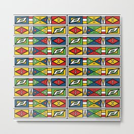 African geometric print Metal Print