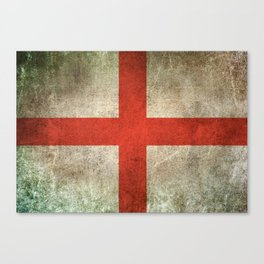 Old and Worn Distressed Vintage Flag of England Canvas Print