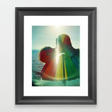 Lovers Kissing - They are Rainbow High Framed Art Print