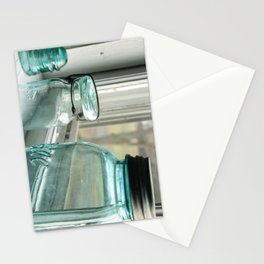 Blue Masons In The Window Stationery Cards