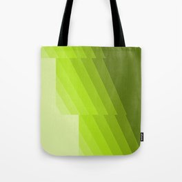 Gradient Green repetition Tote Bag