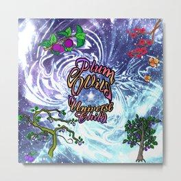 Plum Wild Universe Child Metal Print