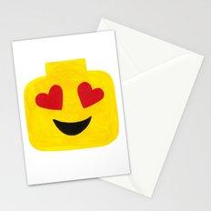 Heart Eyes - Emoji Minifigure Painting Stationery Cards