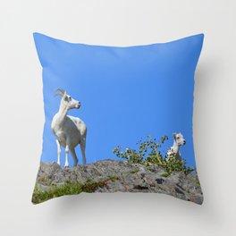 Ewe and Lamb Throw Pillow