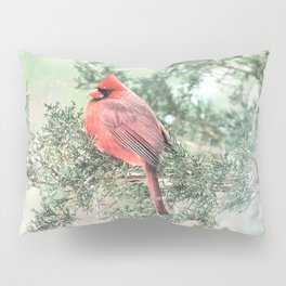 Christmas Bird (Northern Cardinal) Pillow Sham