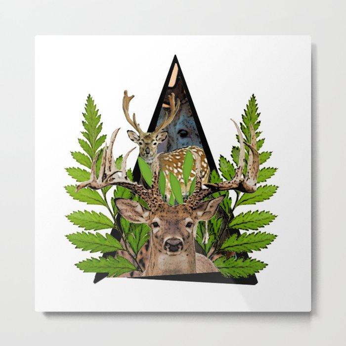 Jungle Animal Deer ArtWork Metal Print