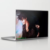 percy jackson Laptop & iPad Skins featuring Son of Hades Percy Jackson by TreyCain03