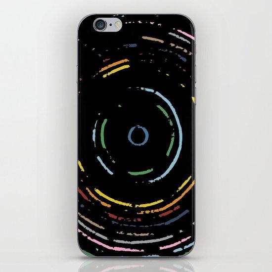 Rainbow Record on Black Closeup iPhone & iPod Skin