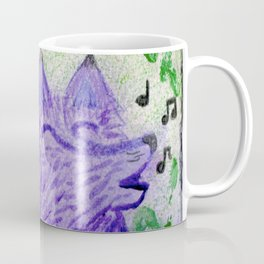 Magenta Singing Fox Coffee Mug