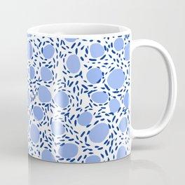 Pebbles cute pattern gender neutral dorm college abstract design minimal modern blue nature art Coffee Mug
