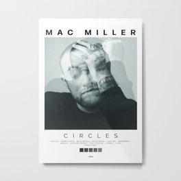 Mac Miller - Circles Album Cover Poster Metal Print