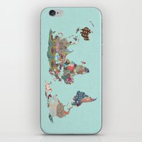 louis armstrong iPhone & iPod Skins featuring Louis Armstrong Told Us So (teal) by Bianca Green
