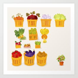 Vegetables Market Art Print