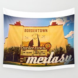 MEXTASY : THE BORDERTOWN DRIVE-IN, LAREDO, TEXAS Wall Tapestry