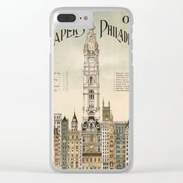 Vintage poster - Philadelphia Clear iPhone Case