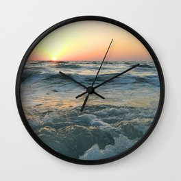 Sunsetting into Sea Wall Clock