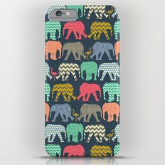 baby elephants and flamingos Slim Case iPhone 6 Plus