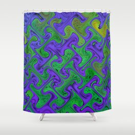Blue and Green II Shower Curtain