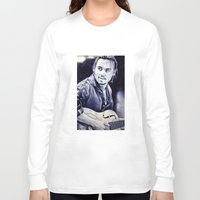 johnny depp Long Sleeve T-shirts featuring Johnny Depp by Matteo Felloni Artista