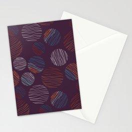 Line Circles | Dark Plum | Pattern Stationery Cards
