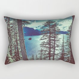 Crater Lake Vintage Summer Rectangular Pillow