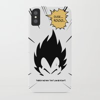 dragonball iPhone & iPod Cases featuring IT'S OVER 9000 (Dragonball, Vegeta)  by SOULTHROW