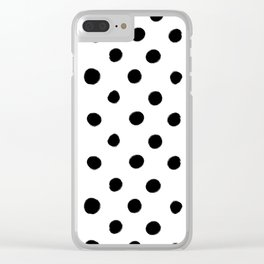 Modern Handpainted Abstract Polka Dot Pattern Clear iPhone Case
