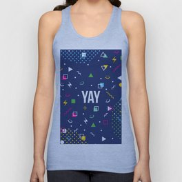YAY Crazy + Colourful Unisex Tank Top