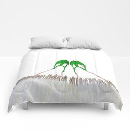 Small Green Shoes Comforters