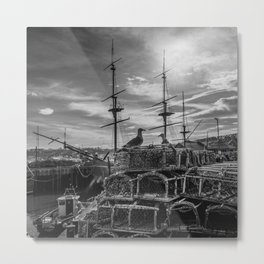 Guarding Endeavour Metal Print