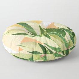 Summer Banana Leaves Floor Pillow