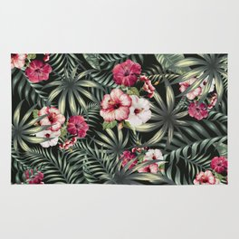 Tropical leave pattern 11.1 Rug