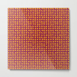 Bold and Bright Naughts and Crosses Pattern Metal Print