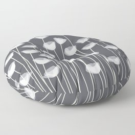White Poppies Floor Pillow