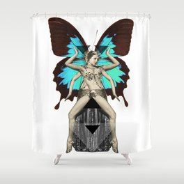 Butterfly Priestess  Shower Curtain