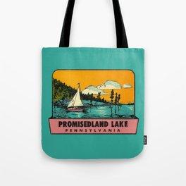 Sailboat Lake Vintage Travel Promisedland Tote Bag