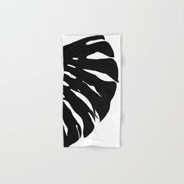 Black Banana Leaf (Black and White) Hand & Bath Towel