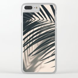 Gray Palm #2 Clear iPhone Case