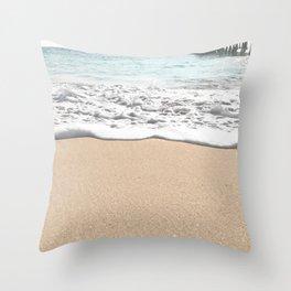 Wave Foam // California Ocean Pier Sandy Beaches Surf Country Pacific West Coast Photography Throw Pillow