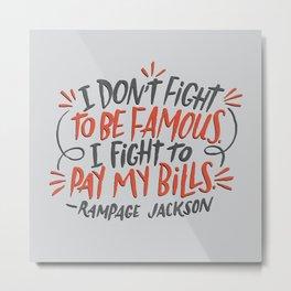 Rampage Jackson Metal Print