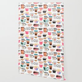 Coffee Cup Collection Wallpaper